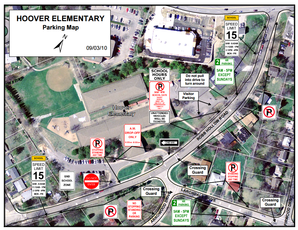Hoover Parking Map